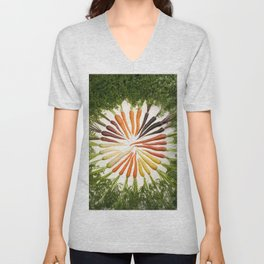 Carrot Color Wheel Unisex V-Neck