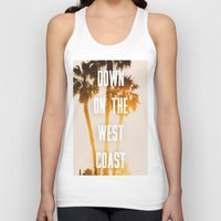 west coast Tank Tops featuring WEST COAST by Jack Stobart