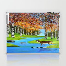 Birch trees in the fall  Laptop & iPad Skin