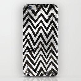 Black Chevron Stripes Boho Designs soutwestern goth iPhone Skin