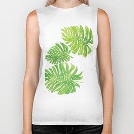 Tropic forest leaves Biker Tank
