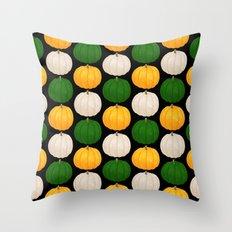 Pumpkin Pattern Remix Throw Pillow