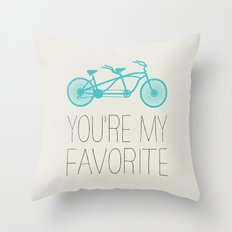 BIKE - YOU'RE MY FAVORITE Throw Pillow