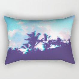 Palm Purple Rectangular Pillow