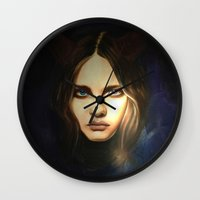 devil Wall Clocks featuring Devil by Pamela Schaefer
