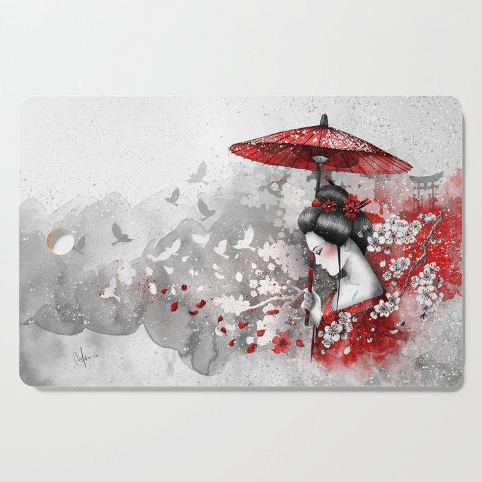 Falling blossoms Cutting Board