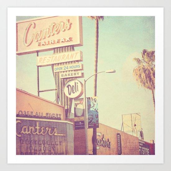 Los Angeles. Canters Deli photograph Art Print