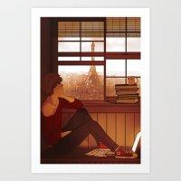 enjolras Art Prints featuring Enjolras by rdjpwns
