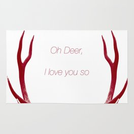 Oh Deer, I love you so Rug