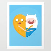 best friends Art Prints featuring Best friends  by Manfred Maroto
