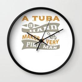 A Tuba in Hand Makes a Very Fine Man Wall Clock