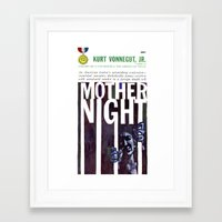 vonnegut Framed Art Prints featuring Vonnegut - Mother Night by Neon Wildlife