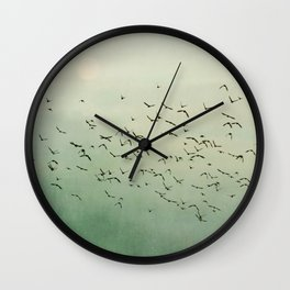 Over the Mountain Tops Wall Clock