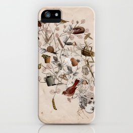 In The Garden Of Her Mind iPhone Case