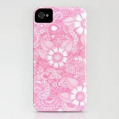 Henna Design - Pink Slim Case iPhone (4, 4s)