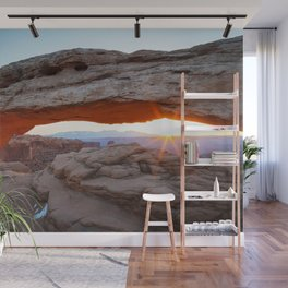 MESA ARCH SUNRISE CANYONLANDS NATIONAL PARK MOAB UTAH ARCHES LANDSCAPE PHOTOGRAPHY Wall Mural