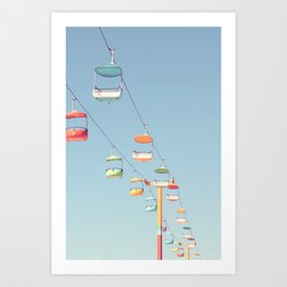 Candy Colored Santa Cruz Art Print