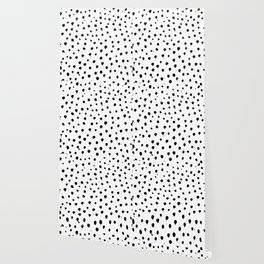 Dalmatian dots black Wallpaper