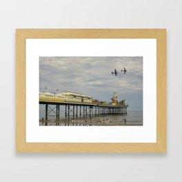 Paignton Pier Memorial Flight Framed Art Print