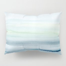 Blue Indigo Ombre Watercolor Abstract Painting  Pillow Sham