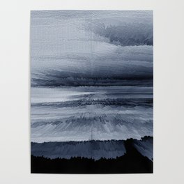 Abstract black painting 2 Poster