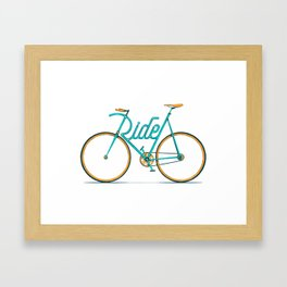Ride Typo-Bike Framed Art Print