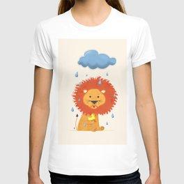 Little lion with a duck T-shirt