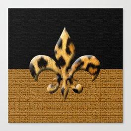 Leopard Fleur De Lis Symbol Canvas Print