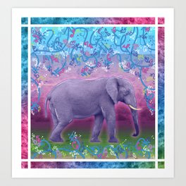 Extraordinary Little (Big) Elephant Art Print