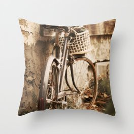 Exhausted in Harmony Throw Pillow