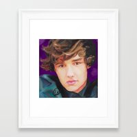 liam payne Framed Art Prints featuring Liam Payne  by Tune In Apparel