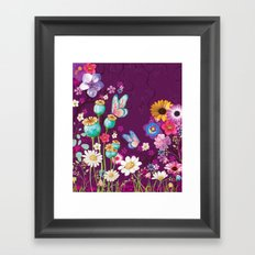Purple Meadow Framed Art Print
