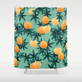 Orange Twist Vibes #1 #tropical #fruit #decor #art #society6 Shower Curtain