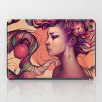 hair iPad Cases featuring Leah by Megan Lara