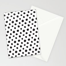 Minimal- black polka dots on white - Mix&Match with Simplicty of life Stationery Cards
