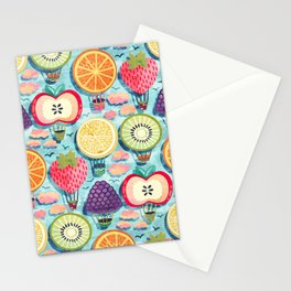 Fruity Hot Air Balloons Stationery Cards