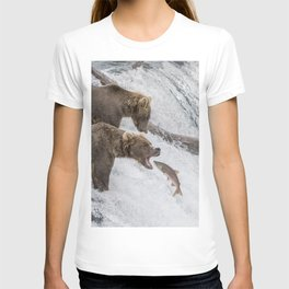 The Catch - Brown Bear vs. Salmon T-shirt