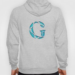 Drop Cap G - Cut Out Leaves - Hand Lettering - Typography - Nature  Hoody