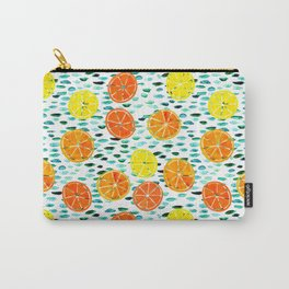 Citrus Lily (white) Carry-All Pouch