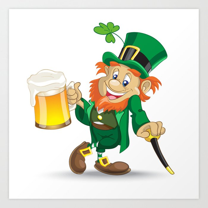 600 Pegaso FT - Page 2 St-patrick-leprechaun-with-cup-of-beer-and-cane-prints