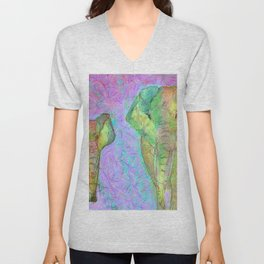 Colored elephants Unisex V-Neck