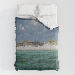 Boardwalk At Shell Island  Comforters