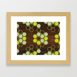 Hex in Green Framed Art Print