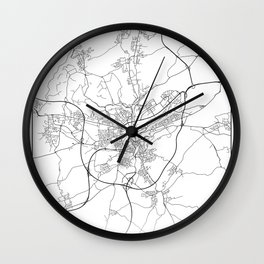 Minimal City Maps - Map Of Luxembourg City, Luxembourg. Wall Clock