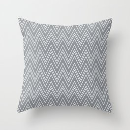 Gray Skinny Chevron Throw Pillow