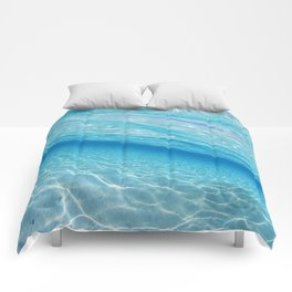 Beach Ocean Water Waves Photography Blues Underwater Pool Comforters