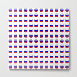 Flag of russia -with soft square Metal Print