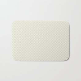 Earthy Green on Cream Parable to 2020 Color of the Year Back to Nature Angled Grid Pattern Bath Mat