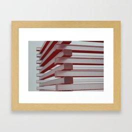 Industrial jenga Framed Art Print