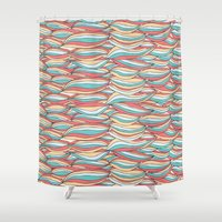 candy Shower Curtains featuring Candy by Pom Graphic Design